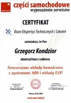 AutoLand - Nowoczesne układy hamulcowe z systemami ABS i układem ESP.