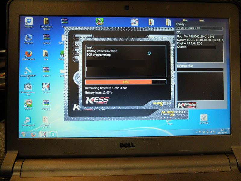 Zaprogramowanie oprogramowania z dezaktywowanym systemem AdBlue poprzez złącze diagnostyczne OBD2