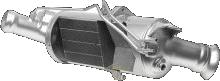Przekrój filtr cząstek stałych DPF